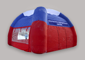Four support inflatable tent