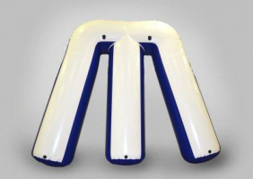 Individual inflatable shapes and paintball covers