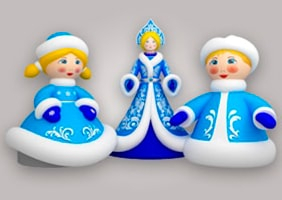 Inflatable Snow Maiden