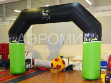 Advertising arch 4 x 3 m with logo