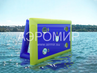 Inflatable gate for an ovdnaya smooth surface