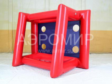 Inflatable gates with supports