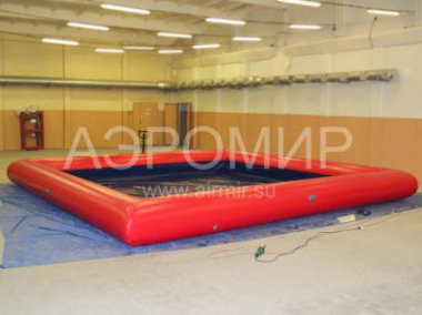 Swimming pool inflatable black and red