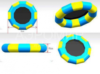 Inflatable attraction Water trampoline 5 m