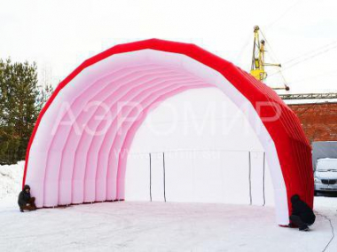 "Scene ""Arched"" 8 x 5 x 5 m white-red"