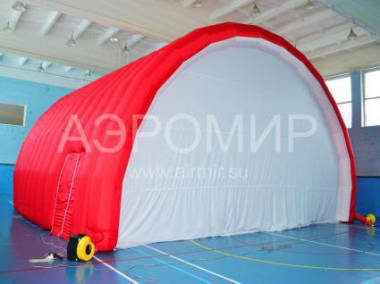 "Scene ""Arched"" 8 x 5 x 5 m red with white"