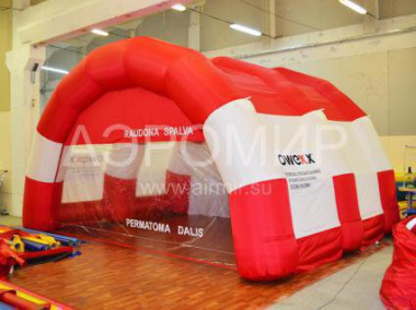 "Scene ""Arched"" 6 x 4 x 3 m red-white"