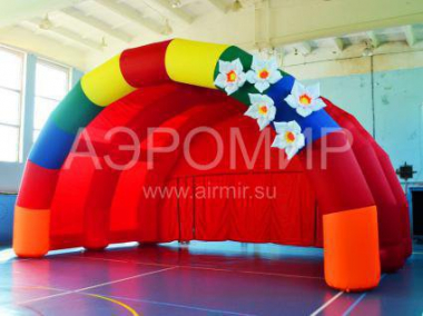 """Arched-1"" with inflatable flowers"