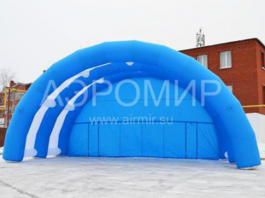 "Scene ""Arched"" 12 x 6 x 6 m blue-white"