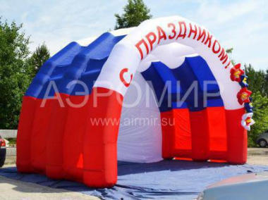 "Inflatable Scene ""Arched"" 8 x 5 x 4 m festive with flowers"