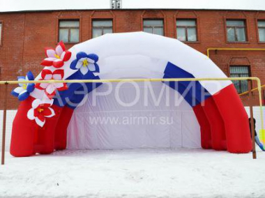 "Inflatable Scene ""Arched"" 8 x 5 x 4 m tricolor with flowers"