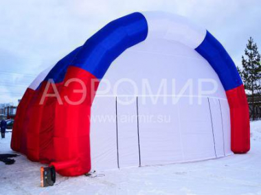 "Scene ""Arched"" 8 x 5 x 4 m with Russian tricolor"