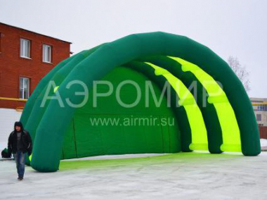 "Scene ""Arched"" 8 x 5 x 4 m yellow-green"