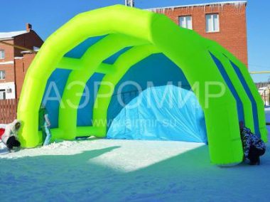 "Scene ""Arched"" 8 x 5 x 4 m yellow-blue"