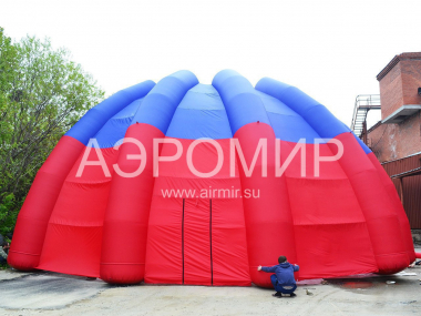 "Inflatable Scene ""Shell"" 2 * 16 * 8 * 8 m in tricolor colors"