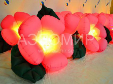 "Inflatable flowers ""Apple"" with a disclosure and lighting"