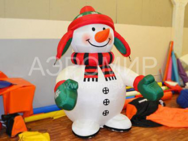 Snowman Standard with earflaps and mittens