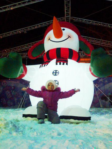 Inflatable Snowman Standard