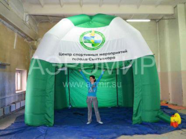 Inflatable tent for sporting events in Syvtyvkar