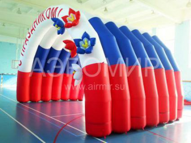 "Inflatable Scene ""Arched"" 6 x 4 x 4 m with floral decoration"