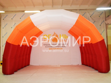 "Scene ""Arched"" 6 x 4 x 4 m with logo"