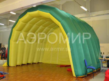 "Scene ""Arched"" 6 x 4 x 4 m yellow-green"