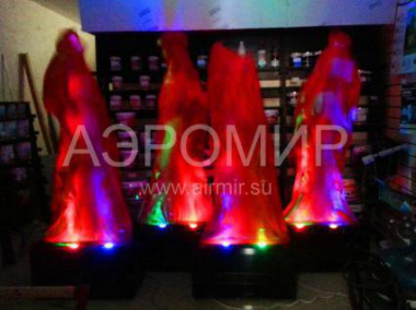 Flame imitation 3 m (red)