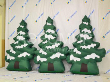 Christmas inflatable Christmas tree snow