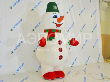 Inflatable costume Snowman (fur)