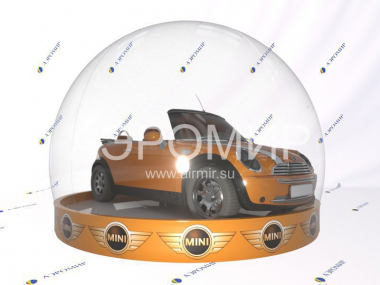 Advertising photozone transparent sphere