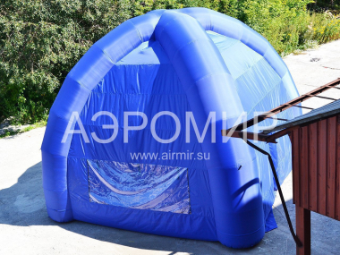 advertising tent with windows