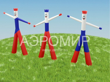 Aeromen in the colors of the Russian tricolor