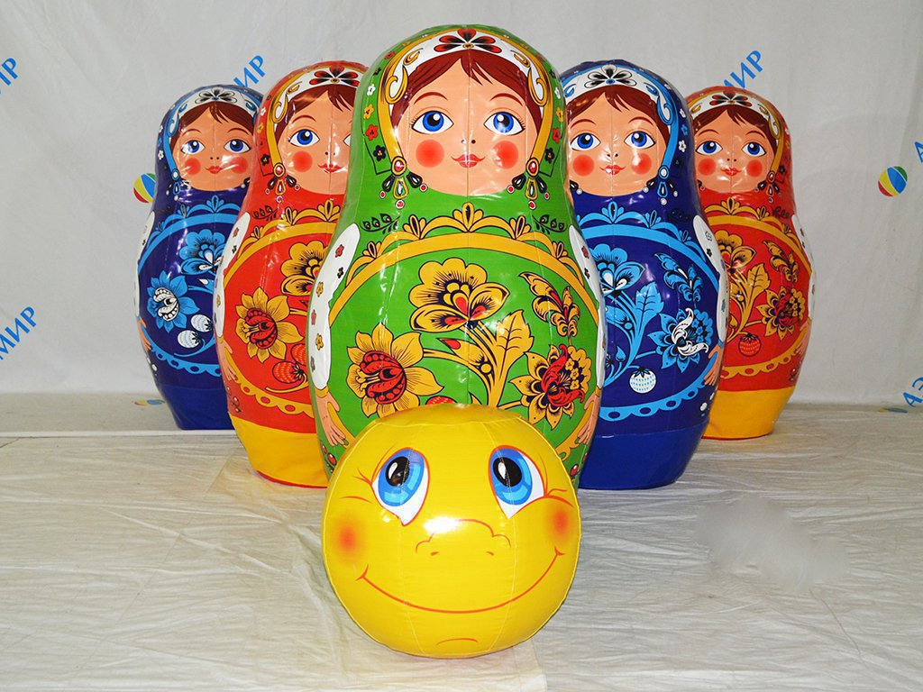 Attraction Bowling Matryoshka with Kolobok