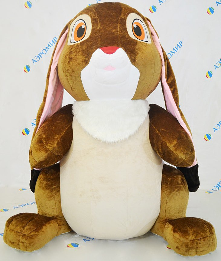 Large inflatable plush bunny (faux fur)