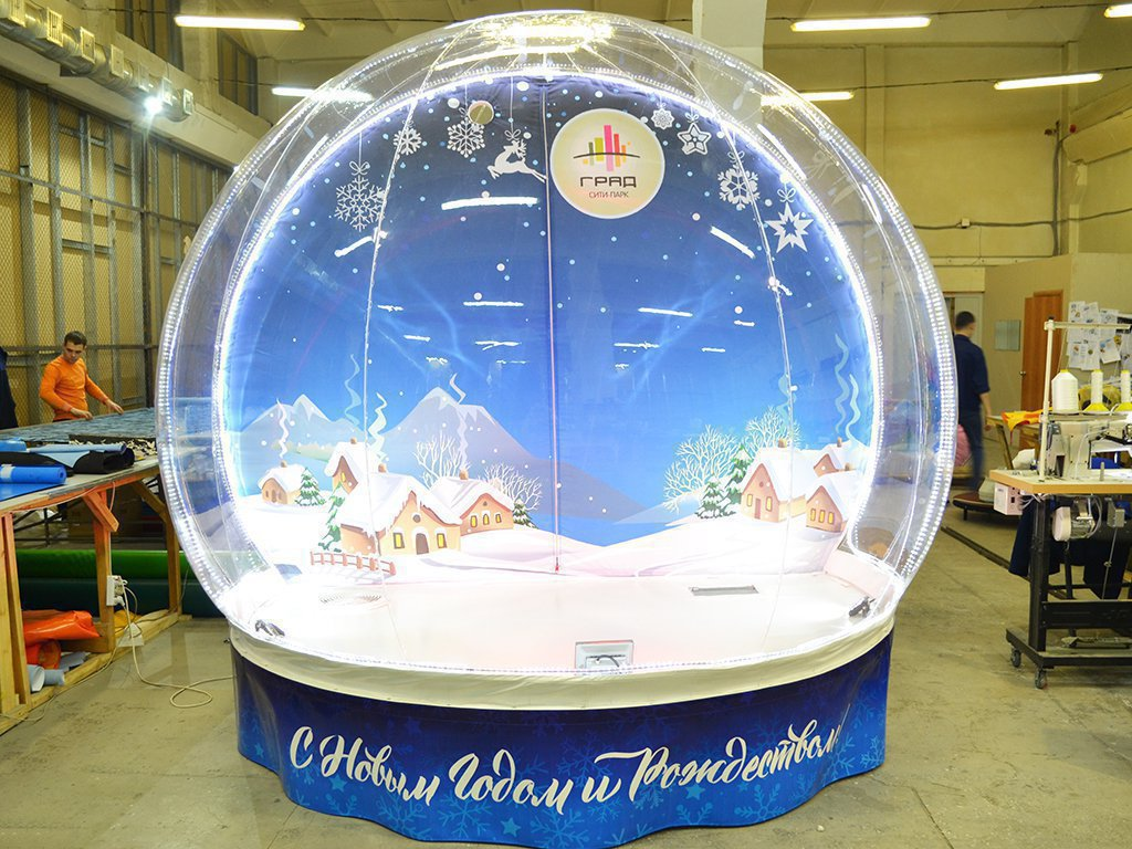 Magic New Year's Miracle Ball (Snow Globe)