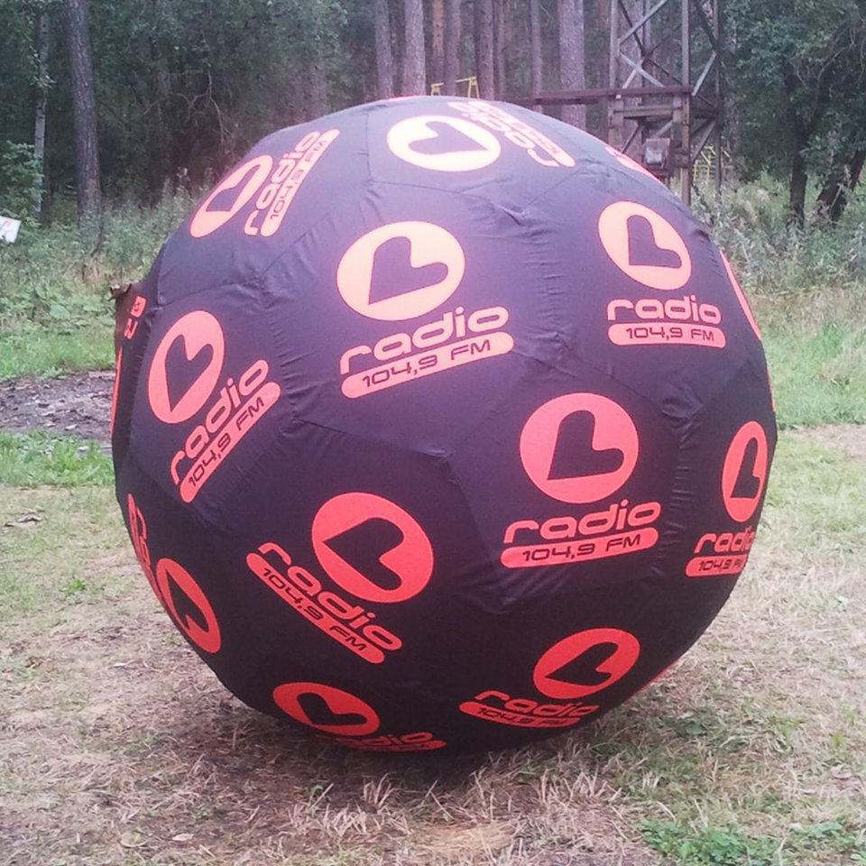 Giant inflatable ball for radio 104.9 FM