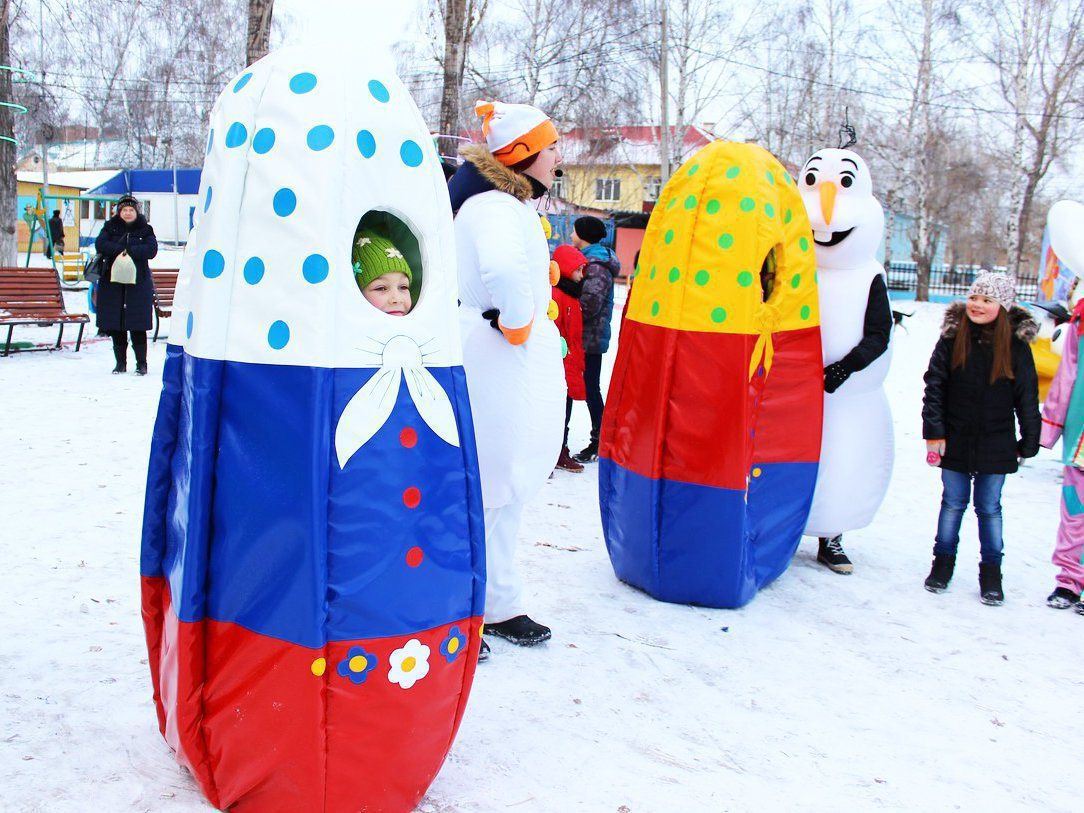 Matryoshka Costume for PKiO Gagarin in Sterlitamak