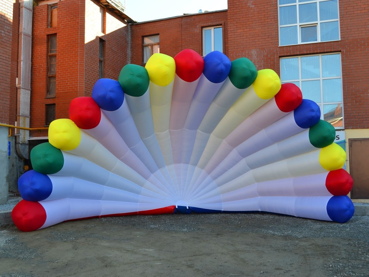Bright inflatable scene Shell for IP Ivanov A.E.