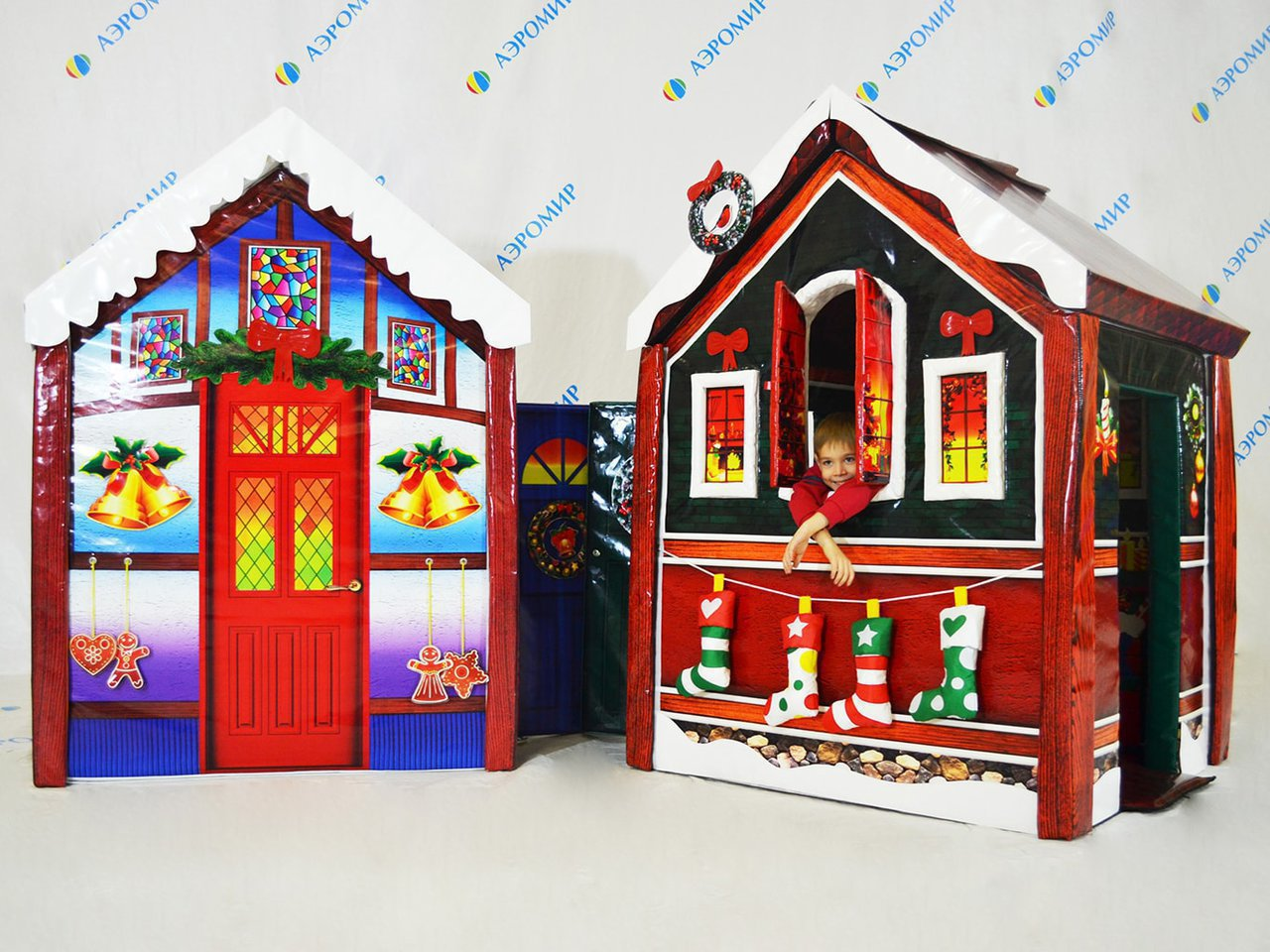 Magic soft houses for decoration of the New Year