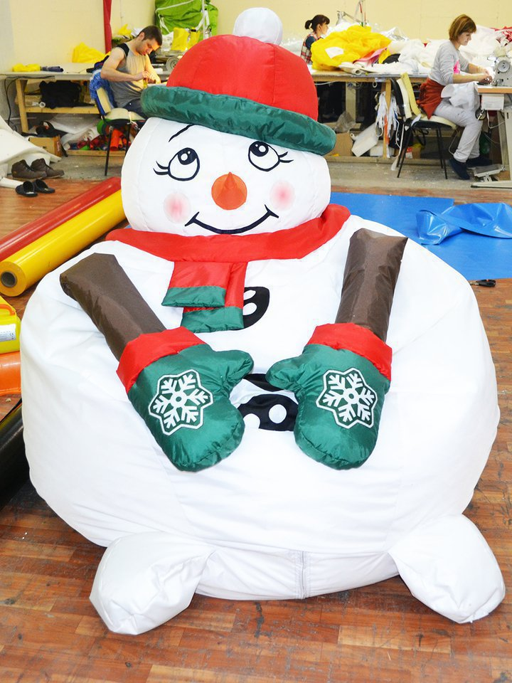 Soft chair bag Snowman