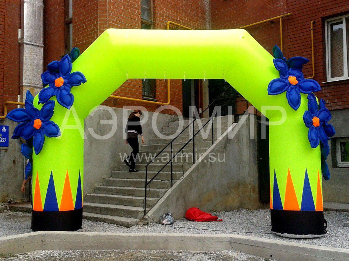 Inflatable arch at the opening of the Children's Center in Yegoryevsk