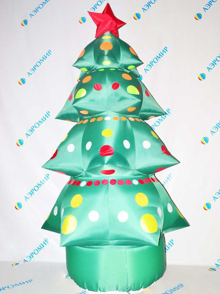 Inflatable elegant Christmas tree for the New Year.