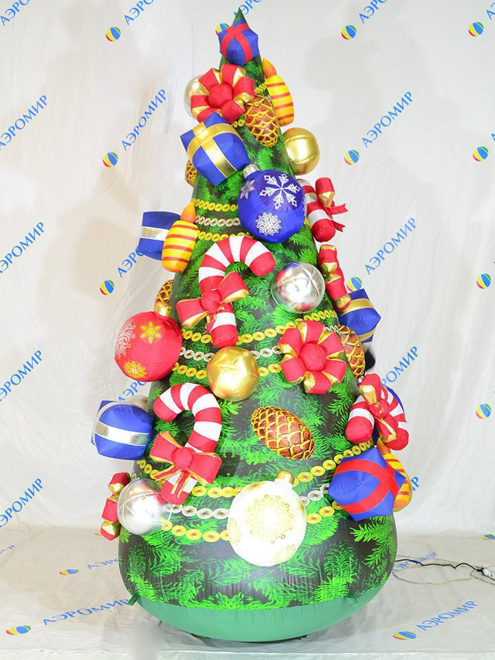 Inflatable Christmas tree for the new year holidays in premium performance
