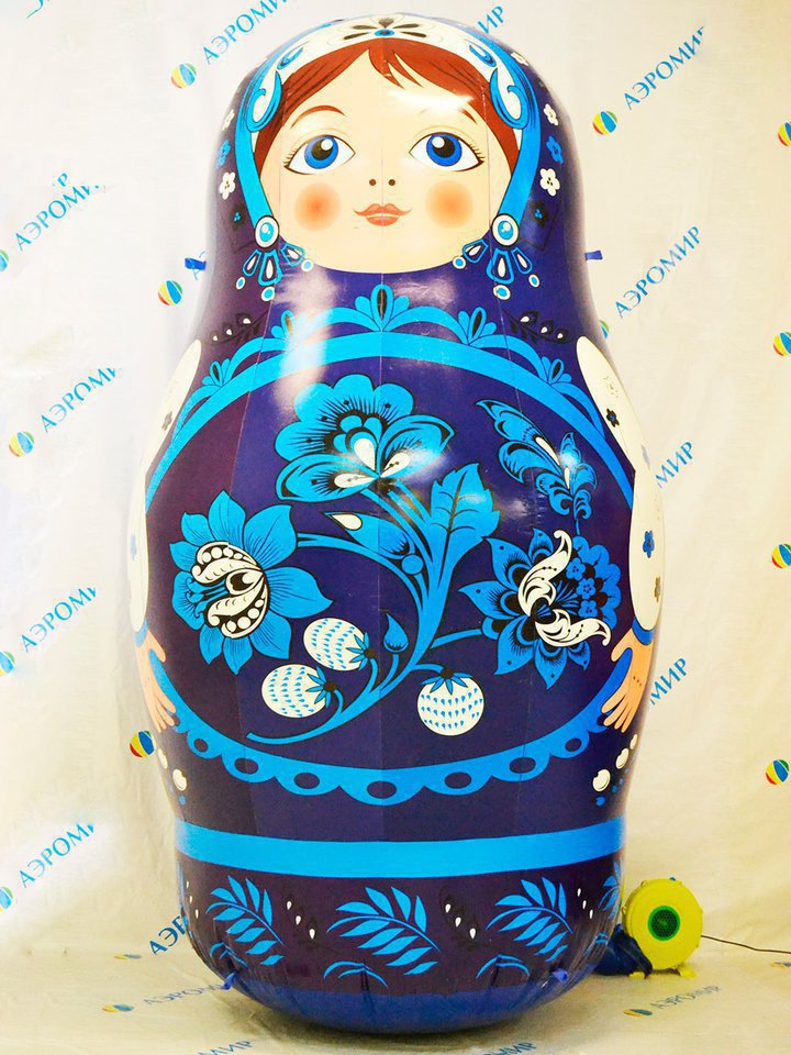 Blue unusual bright matryoshka