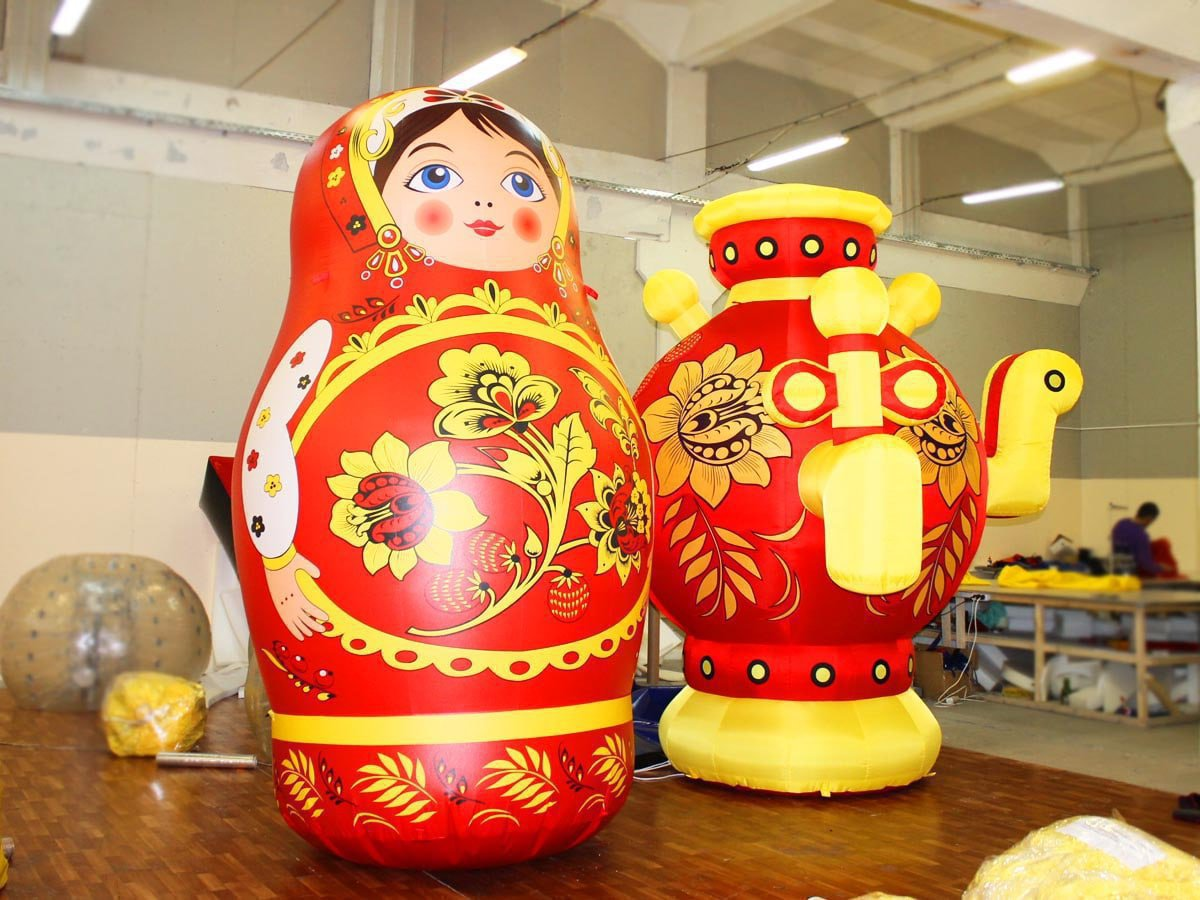 "Inflatable figures ""Samovar"" and ""Matryoshka"" to the Republic of Tatarstan, Alekseevskoe"