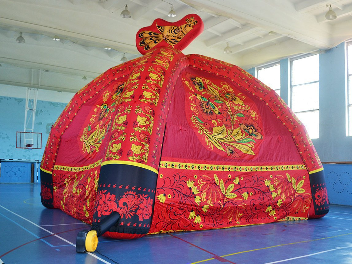 Khokhloma inflatable tent for Petushki
