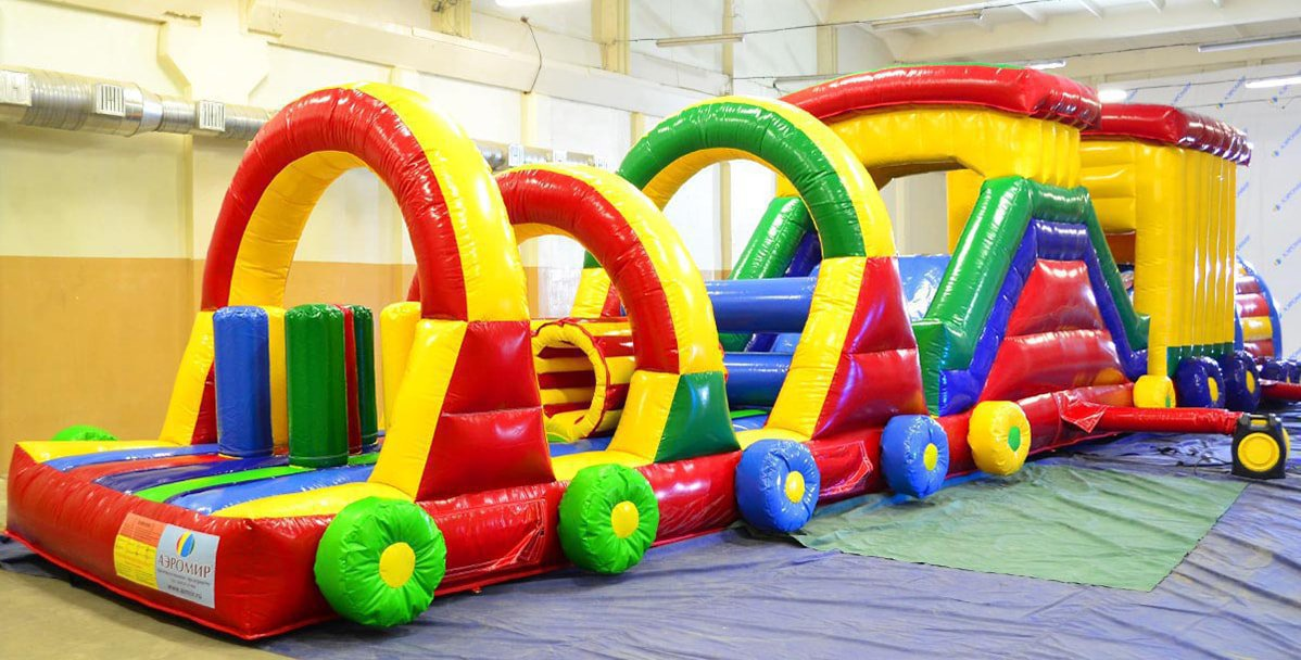 Inflatable obstacle course Parovozik-10