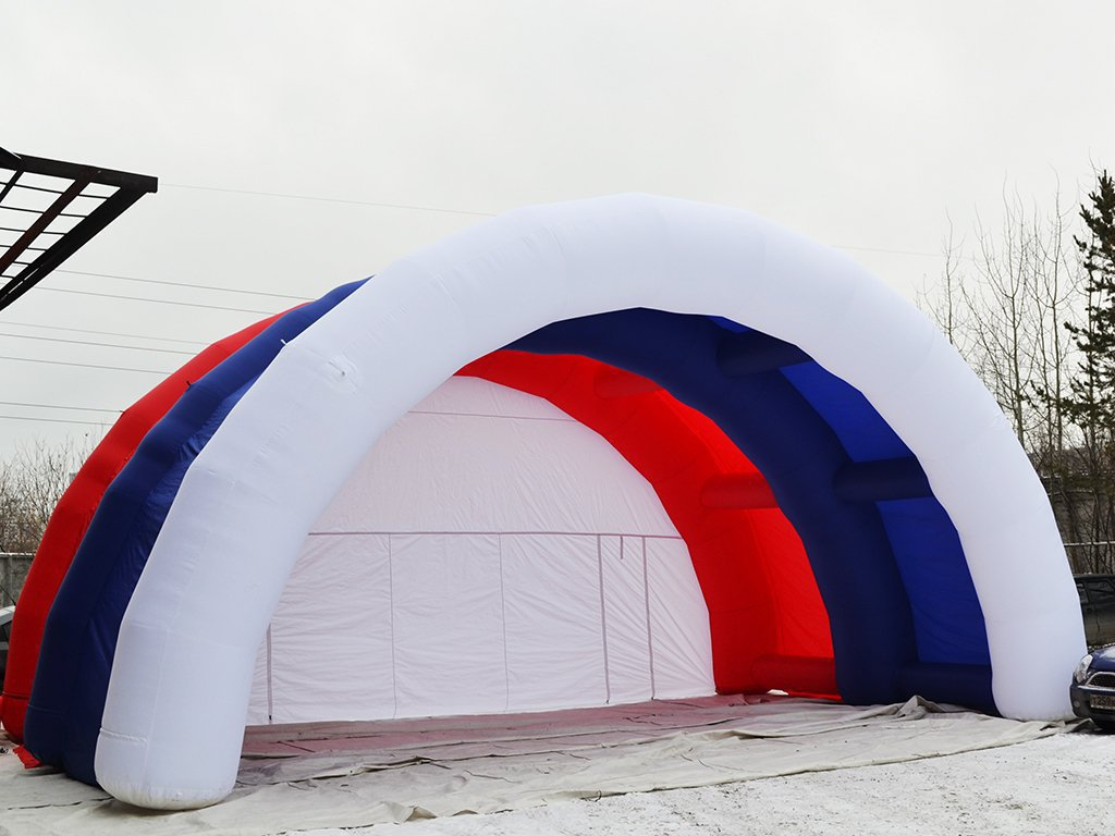 Inflatable stage Arched tricolor, Yuzhnosakhalinsk