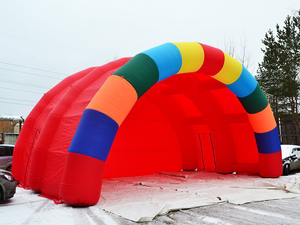 Inflatable scene Arched with rainbow border