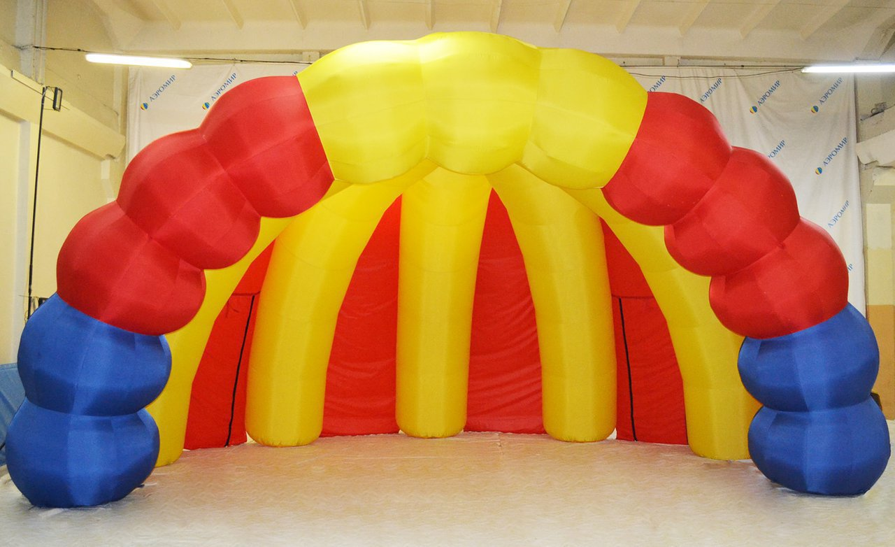 Colorful inflatable scene Shell-1 for the Leningrad region, pos. Red Bor.